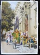 Rare LITHO Image Allemande 12X17 Illustrateur PAUL HEY Deutsche Marchen 4 N° 49 Der Zwerg Nase W. HAUFF - Collections