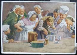 Rare Image LITHO 12X17 Illustrateur PAUL HEY Deutsche Marchen 4 N° 50 Der Zwerg Nase W. HAUFF - Sammlungen