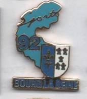 Beau Pin´s En EGF , Ville De Bourg La Reine , Sports , Hauts De Seine , Blason - Steden