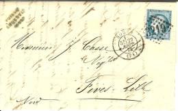 Lettre De Rouen à Fives - Lille - Marcophilie (Lettres)
