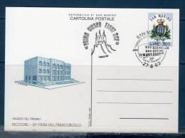 "San Marinoi/ San Marin 1983  --- Cartolina Postale ""Riccione '83"" -- FDC - Interi Postali"