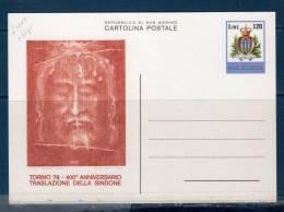 "San Marinoi/ San Marin 1978  --- Cartolina Postale ""Sacra Sindone"" -- Nuova - Interi Postali"
