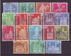 SCHWEIZ - 1960 - MiNr. 696-713 (ohne 711) - Gestempelt - Switzerland