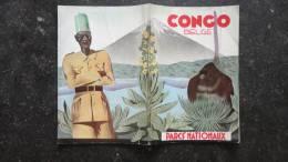 13I - Dépliant Publicitaire Le Congo Belge Et Ses Parcs Nationaux 1938 Avec Carte  Secteur Mikeno Rwindi Ruwenzori.... - Publicités