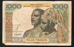 1000F BCEAO A Signature 4 - Banknotes