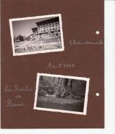 05 - Chantemerle, La Roche De Rame, Serre Chevalier - 4 Photos Collées Sur Carton - Aout 1955 - France
