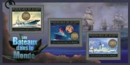 Gu12620a Guinea 2012 Ship Of The World II S/s Bird Titanic Cinema - Albatros