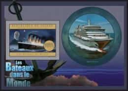 Gu12620b Guinea 2012 Ship Of The World II S/s Titanic Cinema - Cinéma