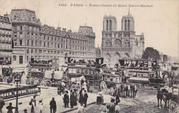 Transports - Attelages  - Paris Notre-Dame Pont - Bouquinistes - Oblitérations 1911 Paris  Eeckeren Belgique - Taxis & Fiacres