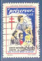 Vignette Comité National De Défense Contre La Tuberculose - 1955 - Antitubercolosi