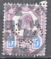 EDOUARD VII  N� 113 PERFORE ( GAC*) OBL TB