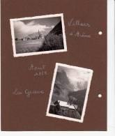 05 - Villars D'Arène, La Grave, La Meije- 4 Photos Collées Sur Carton - Aout 1955 - Places