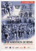 Ref 114 CPM Type Cart'com Carte à Pub Sport Marathon De Reims 1998 - Cartes Postales