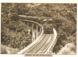 Railway - 24X17.50mm -  Congo-Brazzaville  - Chemin De Fer Congo-Océan  - 1934 - Transports
