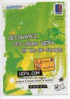 Ref 114 CPM Type Cart'com Carte à Pub Sport UCPA Paris - Cartes Postales