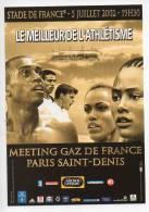Ref 114 CPM Type Cart'com Carte à Pub Sport Stade De France Athletisme 2002 Gaz De France - Cartes Postales