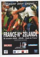 Ref 114 CPM Type Cart'com Carte à Pub RUGBY Stade De France 2002 - Cartes Postales
