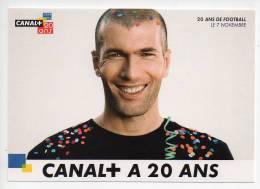 Ref 114 CPM Type Cart'com Carte à Pub Paris SPORT Zinedine Zidane Canal + - Cartes Postales