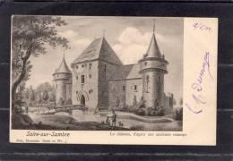 """38722   Belgio,    Solre-sur-Sambre  -  Le  Chateau  D""""apres  Une  Ancienne  Estampe,  VG  1902 - Erquelinnes"""