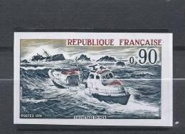 France 1974 N°1491** MNH NON DENTELE Cote 18.50 Euro BATEAU - Non Dentellati