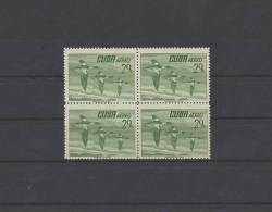 CUBA/KUBA 1956  AVES 29 CENT. IN BLOCCO DI 4  MNH - Ohne Zuordnung