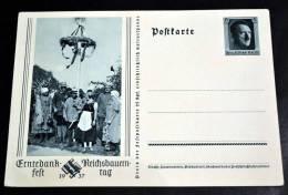 Erntedankfest 1937, Dekorative GA-Karte - Deutschland
