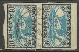 ESTLAND Estonia Estonie 1919 Wikingerschiff  Wiking Ship Michel 12 X (white Paper Type) In Pair O - Estonie