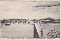 Bray-sur-Seine - Occupation Prussienne - Pont - Passerelle Nottin - Bray Sur Seine