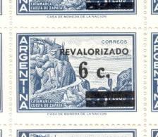 AÑO 1975 ARGENTINA SERIE BASICA CATAMARCA CUESTA DE ZAPATA REVALORIZADA CON SOBRECARGA SURCHARGE MNH TBE - Nuovi