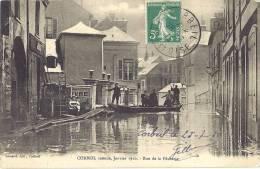 ESSONNE 91.CORBEIL INONDE JANVIER 1910 RUE DE LA PECHERIE - Corbeil Essonnes