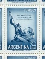 150 ANIVERSARIO DE LA CREACION DE LA BANDERA NACIONAL AÑO 1962 MNH TBE HUECOGRABADO FILIGRANA SOL OVALADO PAPEL SATINADO - Argentina