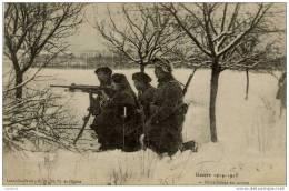 GUERRE 1914.1915-Mitrailleuse En Action-Chasseurs Alpins?? - Guerra 1914-18