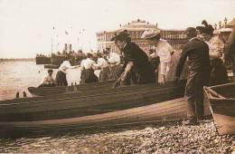 Postcard Victorian Ladies Boating Trip Seaside 1890s Pier Steamer Nostalgia - History