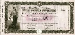 BUONO POSTALE FRUTTIFERO /  LIRE 250.000  - Frazionario 43/192  _ Annullato - Azioni & Titoli