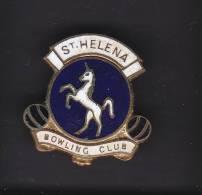 SAINT HELENA BOWLING CLUB, SOUTH AFRICA, Lapel Badge - Bowls - Pétanque
