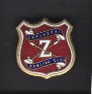 EMPANGENI  BOWLING CLUB, SOUTH AFRICA, Lapel Badge, Crossed Zulu Spears - Bowls - Pétanque