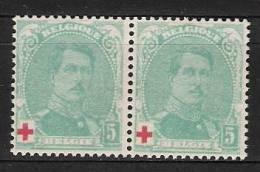 N° 130 ** TYPE 1 Et II En PAIRE  Pas Courant - 1914-1915 Red Cross