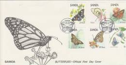 Samoa 1986 Butterflies FDC - Samoa