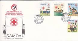 Samoa 1989 125th Anniversary Red Cross FDC - Samoa