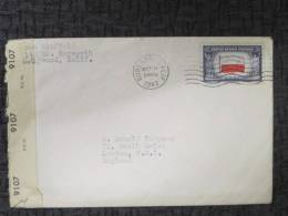 USA 1943 COVER OPENED BY EXAMINER COVER TO UK - Covers & Documents