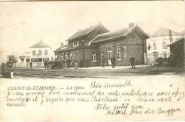 Court-St-Etienne : La Gare : 1903 !!! - Court-Saint-Etienne