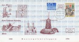 Nederland - Roerzegelenveloppe 35 - Roerzegelenveloppen 1980 - 1990 - Melick 11 Oktober 1990 - Oplage 800/123 - Storia Postale