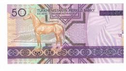 BILLET DE BANQUE 50 MANAT TURKMENISTAN - Turkmenistan