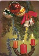 HAPPY NEW YEAR- Candles, Balls And Bells, 1972., Yugoslavia (vjesnik-zagreb, 9) - Anno Nuovo