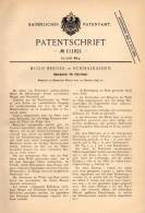 Original Patentschrift - H. Berger In Schmalkalden , 1899 , Halter Für Säbel Am Militär - Fahrrad , Degen , Schwert !!! - Ausrüstung