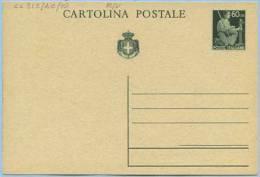 1945 LUOGOTENENZA CARTOLINA POSTALE DEMOCRATICA C.60 PUBBLICITÀ ESCURSIONISTI NAPOLETANI NUOVA OTTIMA QUALITÀ (CC315) - Nuovi