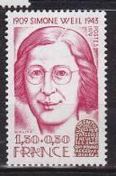 N° 2032A Personnages Célèbres : Simone Weil - Ongebruikt