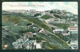 "VIEW OF PEAK BUILDING AND ROADS -  HONGKONG  ( Abimée Dans Un Angle "" Trou""  Voir Scan  - Am7712 - China (Hong Kong)"