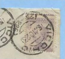 1908 MICHETTI C. 50 VARIETÀ DENTELLATURA ORIZZ. FORTEMENTE SPOSTATA BASSO ISOLATO BUSTA 6.10.23 (M84) - 1900-44 Vittorio Emanuele III