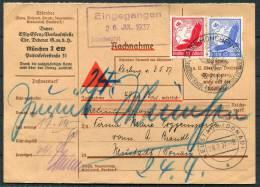 1937 DR Germany NN-Karte Munchen - Neustad Donau - Briefe U. Dokumente